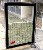 Campaña publicitaria en vía publica